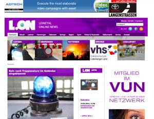 Die Homepage von L.ON