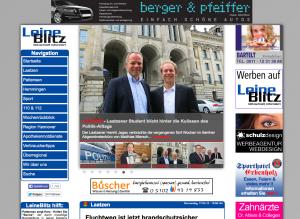 Die Homepage von LeineBlitz