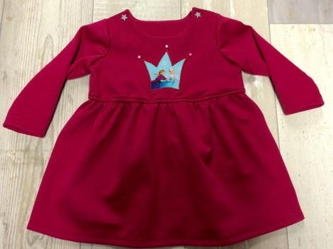 Kleid mit Volants und Eiskönigin Applikation. Gr. 80